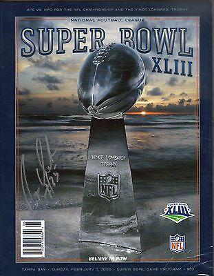 Pittsburgh Steelers RYAN CLARK 25 autograph signed Super Bowl XLIII program auto