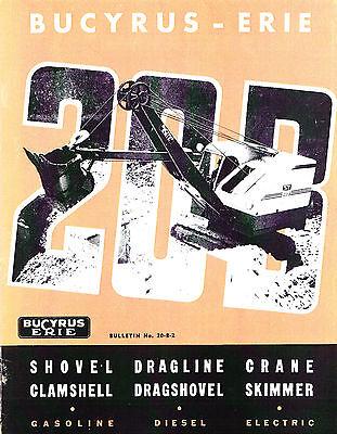 Bucyrus Erie 20-b Shovel Dragline Crane Catalog - Prob 1950s - Reprint