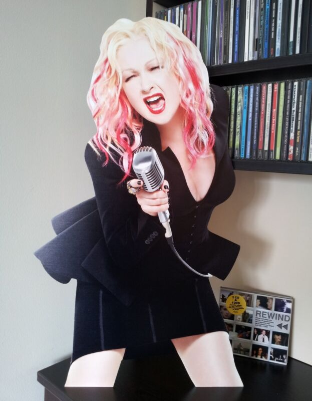 """Cyndi Lauper Display Stand Standee Figure 23"""" Time After Time"""