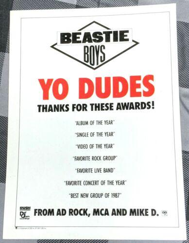 BEASTIE BOYS / ADAM YAUCH / 1987 THANKS FOR THE AWARDS MAGAZINE PRINT AD + DVD