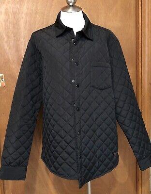 Zara Mens Black Quilted Jacket Sz Xl