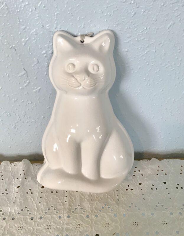 White Ceramic Cat Wall Decor