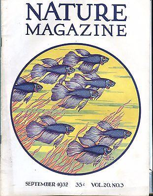 Nature Magazine September 1932 Fish VG No ML 021017jhe