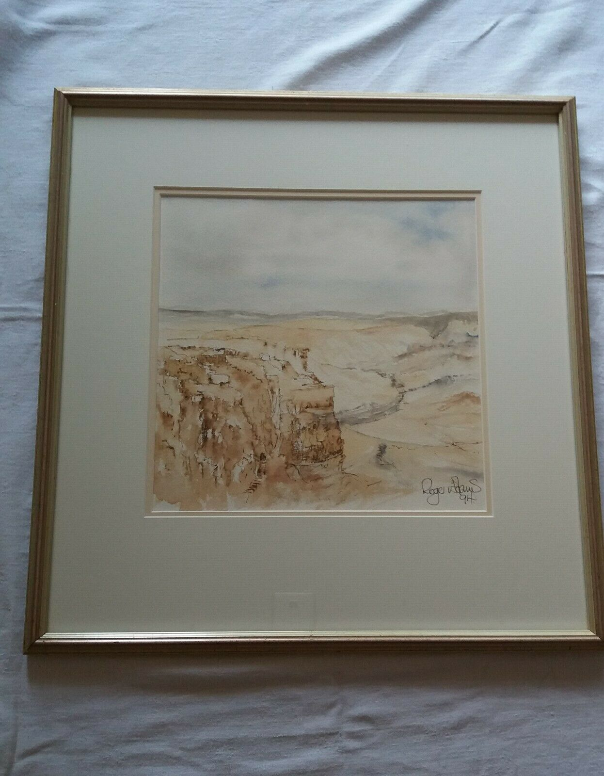 Roger Adams      MASSADA,  DEAD SEA       1994    Watercolour