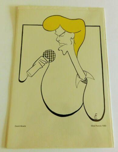 """Vintage Clive Francis Print """"David Bowie"""" 1983 Mint Condition"""