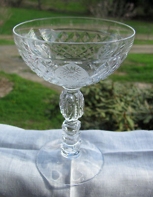 Rare Cambridge Broadmoor 3134 6  Crystal Champagne Tall Sherbet Goblet 11 Avail
