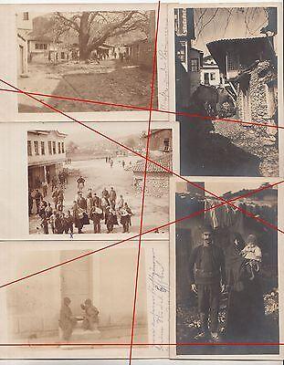 7 x Ak 1 Wk IWW Strumica Demir Hisar Mazedonien Türken Bevölkerung 1917 !(F1926