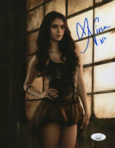Nina Dobrev Autograph Signed 8x10 Photo - Vampire Diaries (JSA COA)