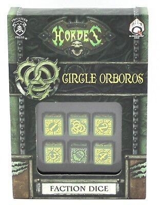 Q-Workshop SPHO51 Hordes Circle Orboros Faction Dice (Set of 6 d6) Accessory NIB