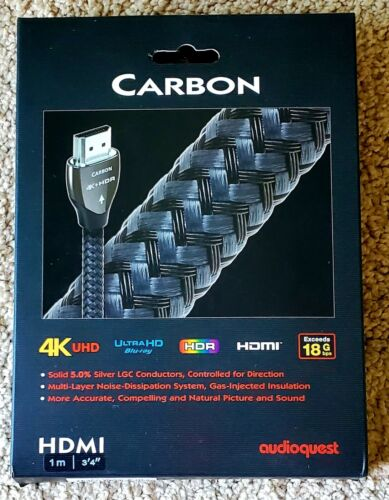 AudioQuest Carbon 1m  Braided HDMI Cable