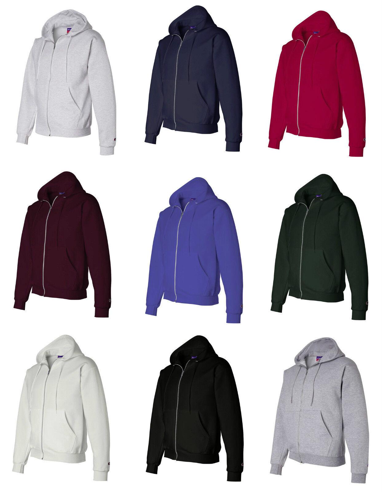 Hanes Men's Size S-XL, 2XL, 3XL, XXL, XXXL, Full Zip-Up Hood
