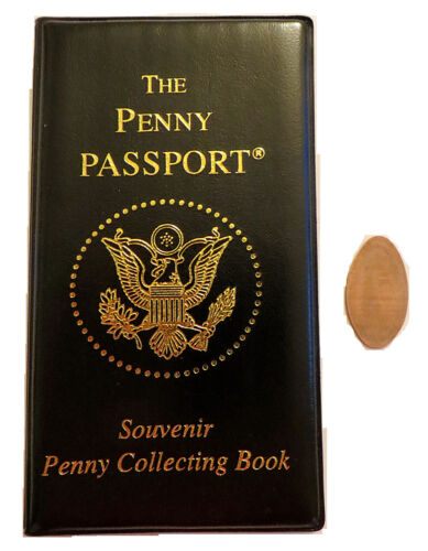 PENNY PASSPORT ELONGATED PENNY ALBUM BOOK NEW WITH FREE PENNY