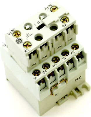 New Ge Miniature Din R.magnetic Contactor Cr6cba-02 120vac Coil Ca4-9-10-120