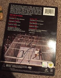 WWE Mick Foley Signed Hell in a Cell DVD Box set
