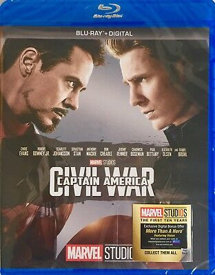 CAPTAIN AMERICA ~ CIVIL WAR < Blu-Ray + Digital >*New *Factory Sealed