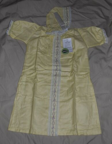 VINTAGE CONE Mills Toddle-Down Baby Outfit with matching Bonnet in Yellow