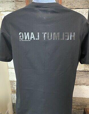 NWT $140.00 HELMUT LANG  Men's Black Band Seam SS T-Shirt Sz S