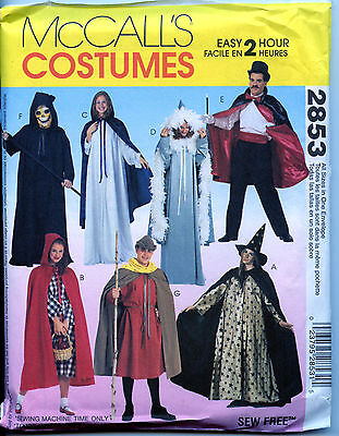 Adult's Cape & Tunic Halloween Costumes - McCalls Sewing Pattern - Small to XL - Halloween Costumes To Sew