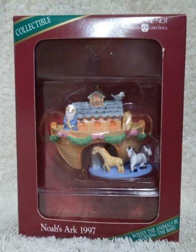 American Greetings Noah's Ark Christmas Ornament 1997 Vintage Keepsake Figurine