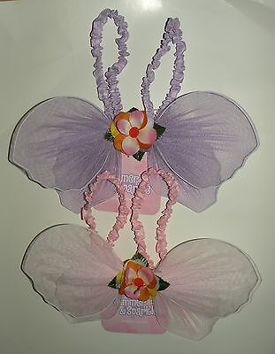 Sparkle Pixie Wings - New Shimmer & Sparkle Fairy Pixie Toddler Wings Pink or Purple One Size