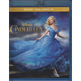 Cinderella (Blu-ray/DVD, 2015, 2-Disc set) VG