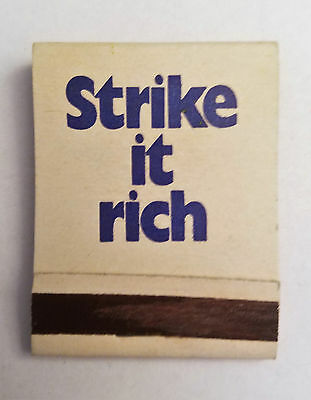 New York State Lottery   Front Strike Matchbook   Combine Shipping