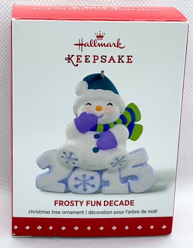 Hallmark Keepsake Frosty Fun Decade 5th in Series Ornament 2015 B