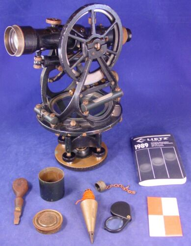1923 Gurley Smith Solar Transit w/Orig. Box and Xtras, missing Smith Attachment