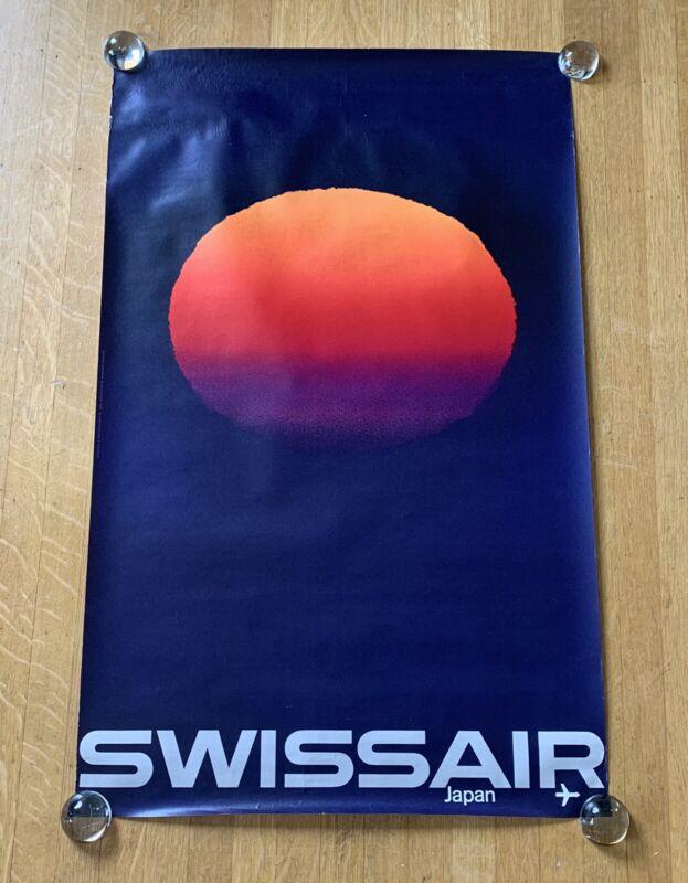 SWISSAIR JAPAN 1964 Airlines Poster MANFRED BINGLER Vintage Original