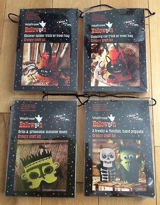 Waitrose Halloween Craft Kit Bundle - Party Activity Gifts: Mask Bags - Halloween Masks Craft Activity