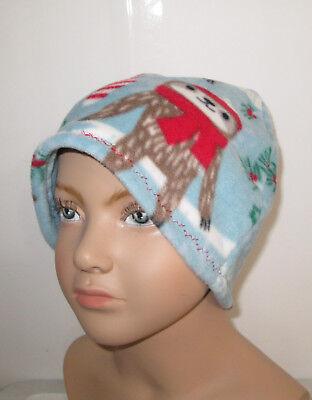 Fleece Handmade Hat (KIDS Sloth Fleece  Cancer Hat Chemo Hat   USA Handmade Alopecia Winter)