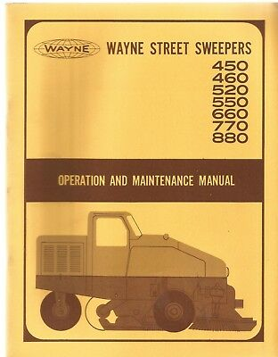 Wayne 450460520550660770880 Street Sweeper Operators Manual