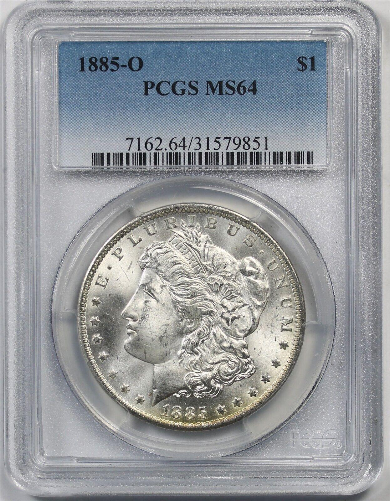 NGC MS64 1885-O US Morgan Silver Dollar $1