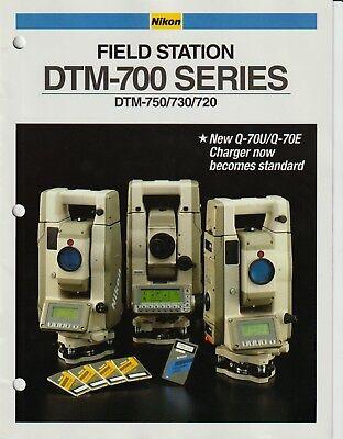 Nikon Field Station Dtm-700 Series Dtm-750730720 Sales Ad Brochure-vg-8pgs
