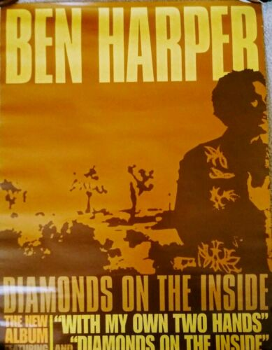 "BEN HARPER-PROMO POSTER (Blues / Folk) ""Diamonds On The Inside Record"" 2003"