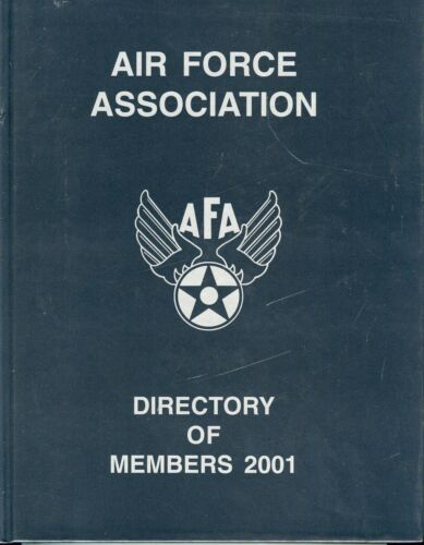 Air Force Association Directory of Members - 2001 - HC Book, Nice Condition