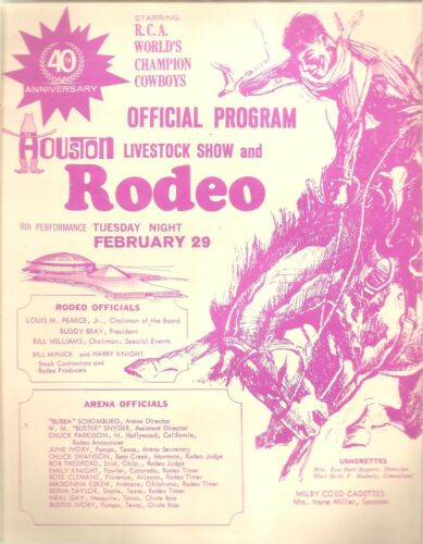 Houston Astrodome~1972 Livestock Show & Rodeo Program/LYNN ANDERSON & JERRY REED