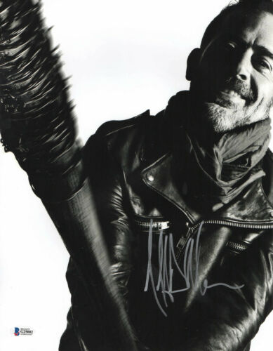 NEEGAN JEFFREY DEAN MORGAN SIGNED AUTO THE WALKING DEAD 11X14 PHOTO BECKETT 34