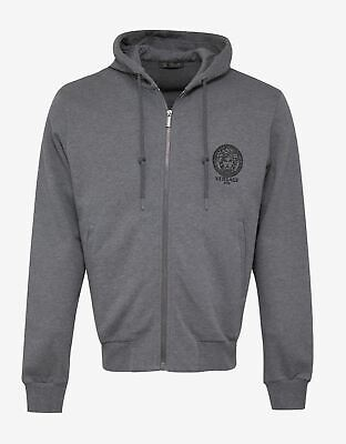 NEW Versace Grey Medusa Embroidery Hoodie RRP £405