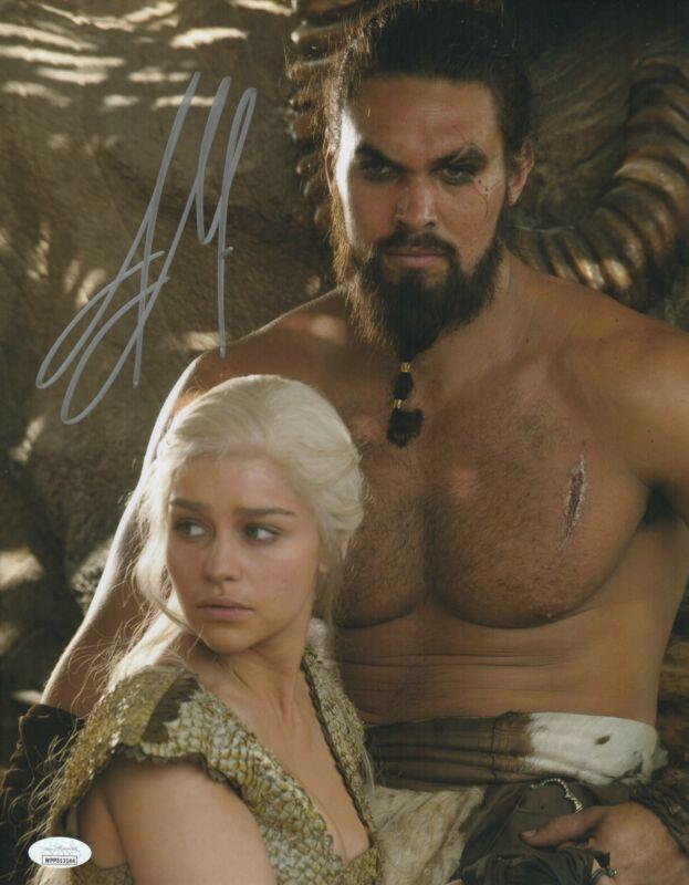 Jason Momoa Autograph 11x14 Photo Game of Thrones Khal Drogo Signed JSA