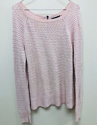 American Eagle Outfitters Women's Pink Sweater Cable Knit Long Sleeve XL XLarge