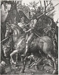 Albrecht Durer: Knight, Death & Devil - Fine Art Print