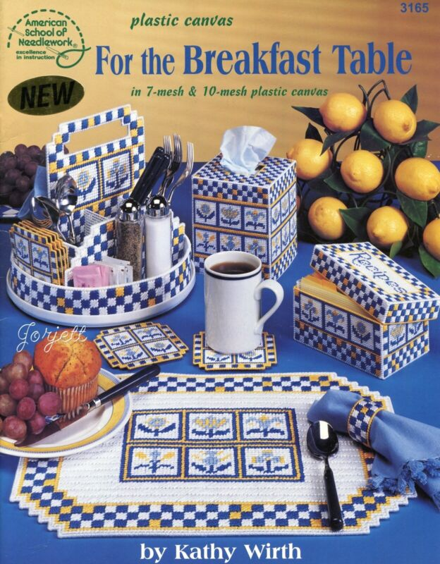 For the Breakfast Table, Accessories Tissue & More plastic canvas pattern book