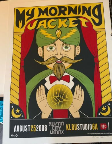 MY MORNING JACKET ACL POSTER 2008!!  NUMBERED 131/200 PEDINI