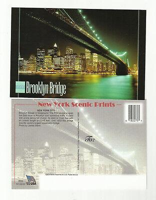 Lot Of 10- 1990's Brooklyn Bridge at night Postcards- New York City