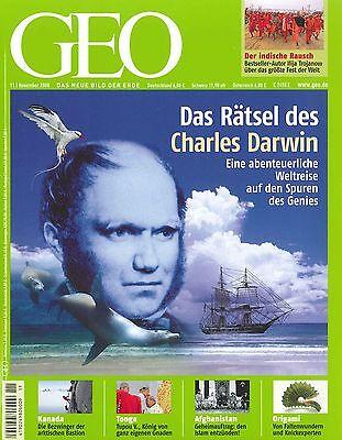 GEO Magazin, Heft November 11/2008: Die Rätsel des Charles Dawin ++ wie neu ++