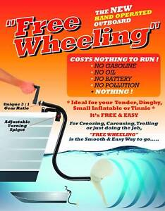 """""""Free Wheeling"""" Hand Operated Outboard"""