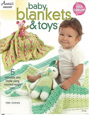 Baby Blankets & Toys Annie's Crochet Instruction Patterns Cat Dog Pig Bear+ NEW for sale  Shipping to India