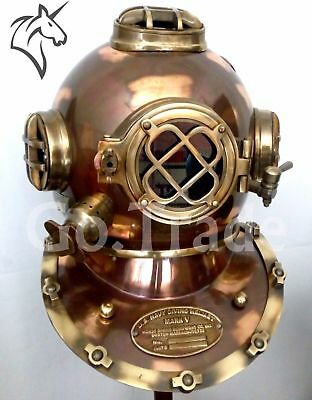 US NAVY MARK V ANTIQUE DIVING DIVERS HELMET BRASS STEEL FULL SIZE MARITIME
