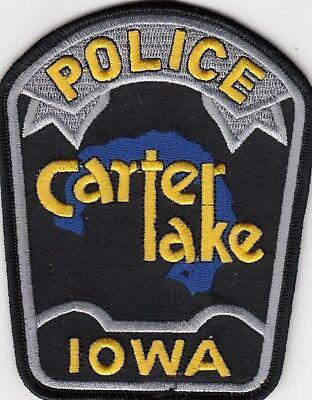 CARTER LAKE POLICE SHOULDER PATCH IOWA IA